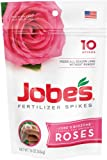 Jobe's 4102 Rose Outdoor Fertilizer Food Spikes, 10-Pack
