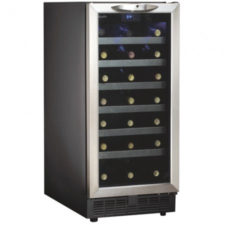 "Danby 34 Bottle, Built-In Wine Cooler (Black) (34.06""H x 15""W x 24.75""D)"