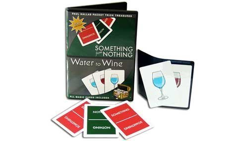 Paul Hallas Something From Nothing & Water to Wine Magic Card Packet Tricks with Teaching DVD