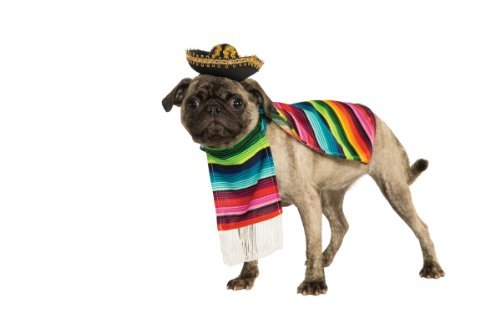 Rubie's Pet Costume, Small, Mexican Serape by Rubie's (Pet Mexican Serape And Sombrero)