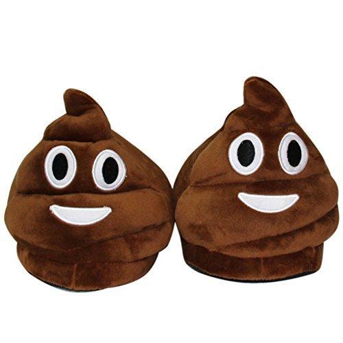 Babuchas-Caca-Pequea--Zapatillas-pantuflas-Emoji-Emoticon-Cmodo-Suela-Trmica-Vellocino-
