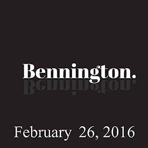 Bennington, February 26, 2016 Radio/TV Program