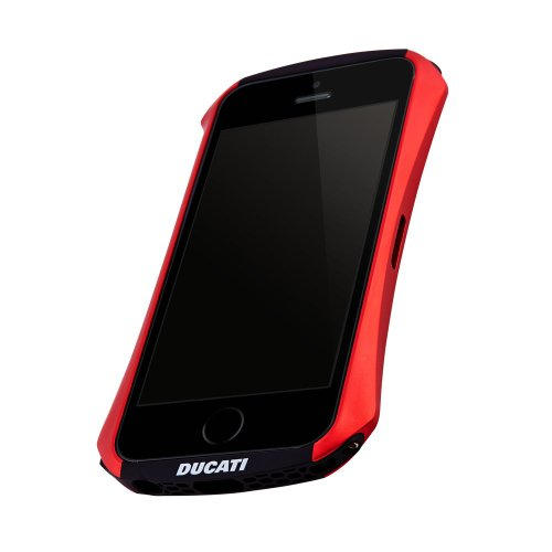 Draco Design DR50VEA1-RD Aluminium Bumper case for iPhone 5 / 5S in Flare Red with official Ducati License Black Friday & Cyber Monday