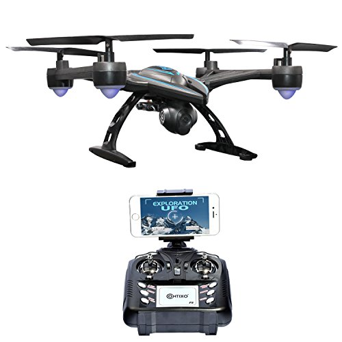 Thanksgiving-Sale-Contixo-720P-FPV-F5-Quadcopter-Drone-with-Wi-Fi-Camera-Live-Video-Headless-Mode-24GHz-4-Channel-6-Axis-Gyro-RTF-1-Button-Auto-Landing-Return-Features