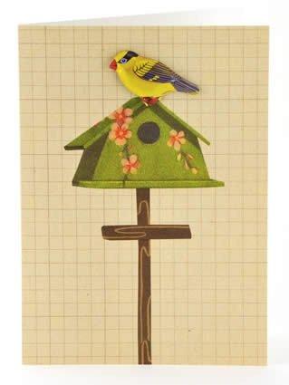 Petra Boase Tin Badge Card - Bird House front-728038