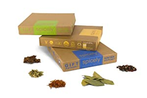 Spicely Organic Spices Gift Set American Kitchen 12-box Sampler Low Rate Shipping by American Natural & Organic Spices