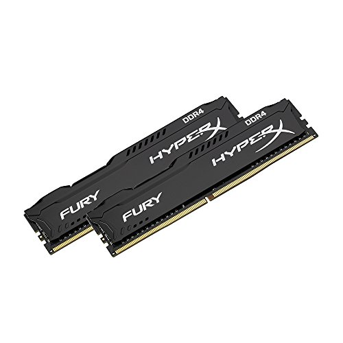 Kingston HyperX FURY Black 8GB Kit (2x4GB) 2133MHz DDR4 Non-ECC CL14 DIMM Desktop Memory (HX421C14FBK2/8)