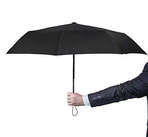 PLEMO自動開閉折りたたみ傘 折畳み傘 携帯用 ブラック(直径94センチ)