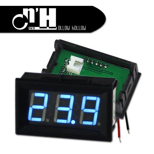 Ollow Hollow Mini 2 Wire Blue Dc4.0-30V Led Panel Digital Display Voltage Meter Voltmeter 2Pcs /Lot For Diy