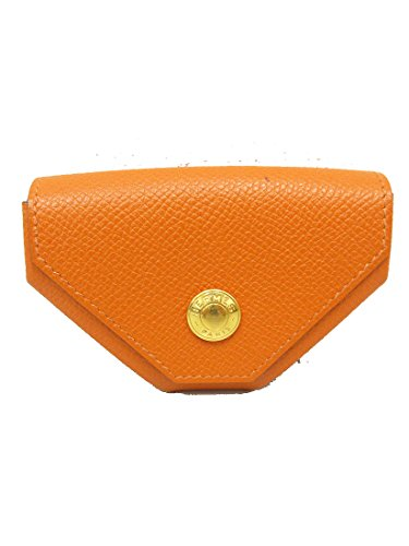 HERMES(エルメス) コインケース 小銭入れ □J刻 オレンジ エプソン 【ブランド財布】 【中古】