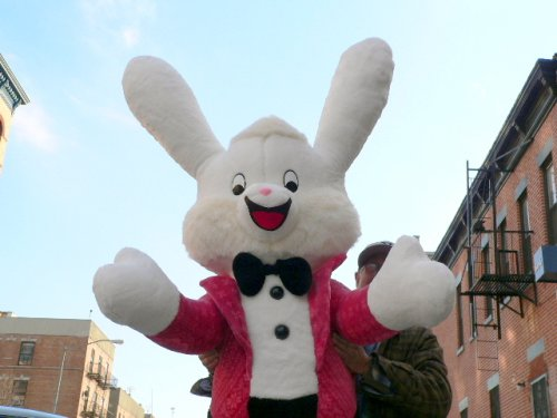 Buy GIANT SIZE 5 and 1/2 FEET TALL STUFFED BUNNY RABBIT WEARING TUXEDO – HUGE PLUSH JUMBO BIG LARGE STUFFED ANIMAL – AMERICAN MADE IN THE USA AMERICA – PERFECT FOR BUSINESS EASTER DISPLAY FOR BUSINESSES (or Anytime) AND GREAT GIFT TOO – COLOR: PINK COLOR TUXEDO