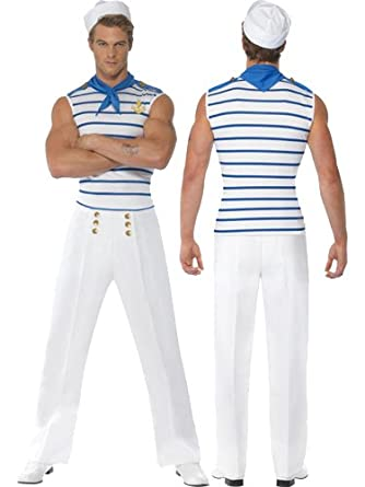 New Male French Sailor Fancy Dress Costumes Gi Amazon Co