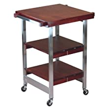 Oasis Concepts Stainless Steel/Wood Folding Versatile Bbq Island, Cherry