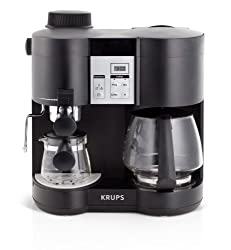 KRUPS XP160050 Coffee Maker and Espresso Machine Combination, Black from Krups