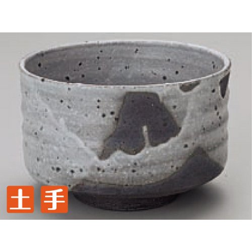 Teacup Kbu844-12-782 [4.73 X 3.15 Inch] Japanese Tabletop Kitchen Dish Matcha Green Tea Bowl Shirahagi Shigaraki Bowl ( Tom ) [12 X 8Cm] Farm Product Handmade Restaurant Cafe Tableware Restaurant Business Kbu844-12-782
