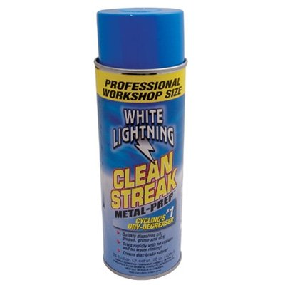 White Lightning Clean Streak Dry Bicycle Degreaser - 23 oz Aerosol - C50240102