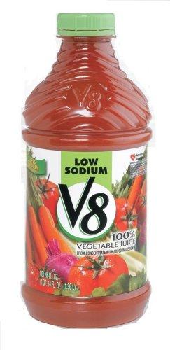 V8 Vegetable Juice, Low Sodium, 46-Ounce Bottles (Pack Of 12) front-764899
