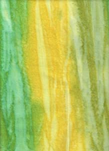 "Benartex Yellow Green Batik Flannel Striations Bali Rainbow 9411F-34 Quilt Fabric 100% Cotton 40"" Wide - HALF YARD"