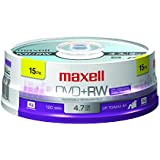 Maxell 634046 DVD Plus RW, 15 Pack-Spindle (634046)