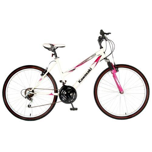 Kawasaki Ladies K26G Bike (White/Pink, 26 X 18-Inch)