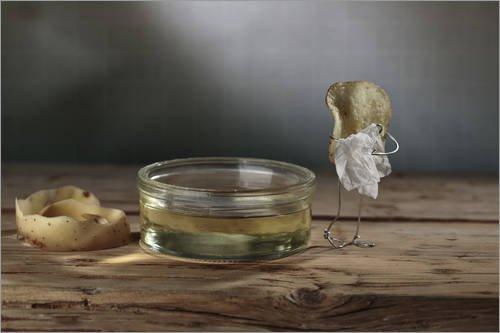 Reproduction sur toile 120 x 80 cm: Simple Things - Potatoes de Nailia Schwarz - Reproduction prête à accrocher, toile sur châssis, image sur toile véritable prête à accrocher, reproduction sur toi...