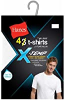 Hanes Men's 4-Pack White Tagless X-Temp Crew T-Shirts