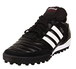 adidas Men's Mundial Team Soccer Shoe,Black/Run White/Red,10.5 M