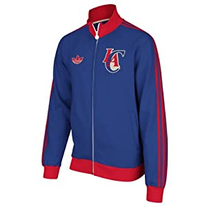 Los Angeles Clippers adidas Springfield Originals Fleece Track Jacket - Blue by Adidas