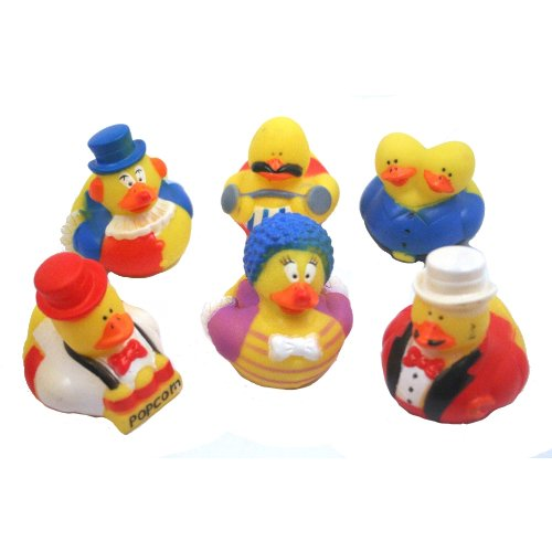 Fun Express Circus/Carnival Rubber Duck Party Favors Set (12 Piece)