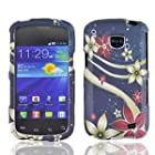 Straight Talk Samsung Galaxy Proclaim Floral Galaxy Faceplate Hard Phone Case Cover Cell Phone Accessory 720C SCH-S720C