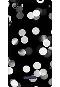AMEZ designer printed 3d premium high quality back case cover for Micromax Canvas 5 (black and white lights)