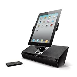 iLuv iMM727BLK ArtStation Stereo Speaker Dock with Remote and Adapter for the Apple iPad 3-3G / iPad 2 WiFi/3G Model 16GB, 32GB, 64GB EST Model for Apple iPhone 4, iPhone 4S, iphone 5/5s and iPod Touch -Black