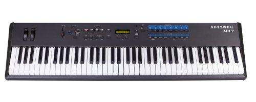 Kurzweil Sp4-7 76 Note Digital Stage Piano, Semi Weighted Keys, 128 Programs, 64 Split Polyphony, Split Layer, Setup Mode, 24 Bit Dsp Technology, Black