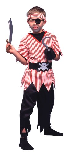 Pirate 4pc Boys Costume Black/Red