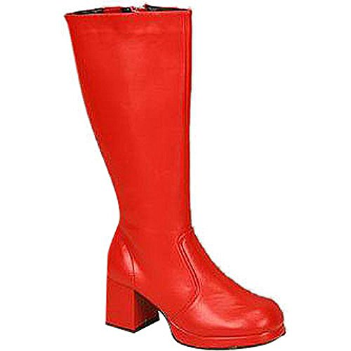 Ladies Red Deluxe Go-Go Costume Boots (Sz:8)