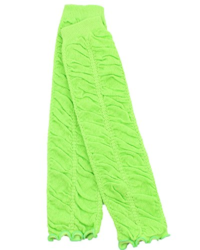 Judanzy Ruffle Baby Leg Warmers In Various Colors For Girls, Toddler, Child (Lime) front-1003516