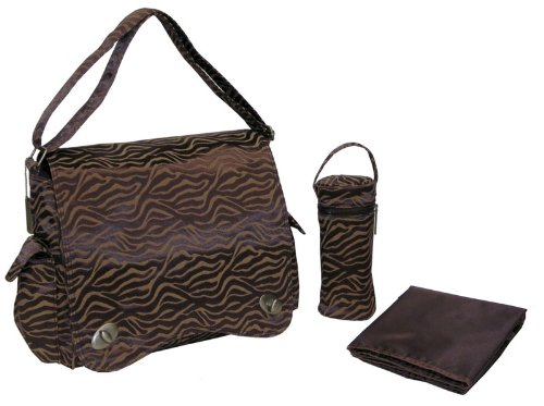 Kalencom Scallop Messenger Diaper Bag in Safari Fantasy - 1