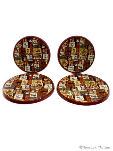 Set 4 Coffee Bistro Burner Stove Covers / Kitchen