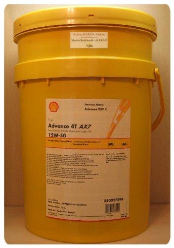 Shell Advance 4T AX7 15W-50, 20 Liter Motorrad-Motorenöl
