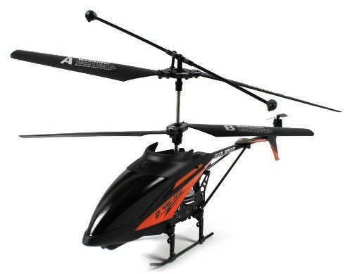 Hk-Rotor Vii Electric Rc Helicopter Gyro Gyroscope 2.4Ghz 3.5 Channel Led Ready To Fly Rtf (Colors May Vary)