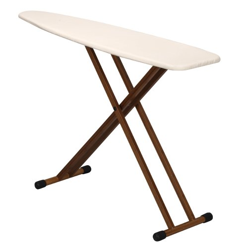 Household Essentials Ironing Board with Bamboo Legs and Natural Cover (Leg Leg Ironing Board compare prices)