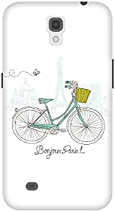 The Racoon Lean White Bonjour Paris hard plastic printed back case / cover for Samsung Galaxy Mega 6.3