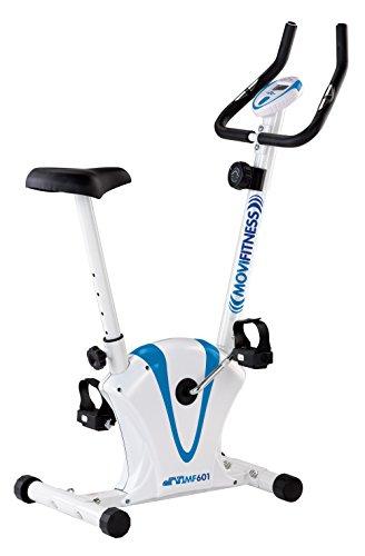 Movi Fitness MF601 Cyclette Magnetica, Bianco/Azzurro