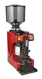 La Pavoni Commercial Coffee Grinder, 2.2-Pound Capacity Hopper, Red and Stainless Steel