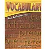 img - for Vocabulary for Achievement: 5th Course Tch edition by Margaret Ann Richek, Arlin T. McRae, Susan K. Weiler (1998) Paperback book / textbook / text book