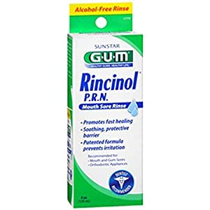 Butler G-U-M Rincinol P.R.N Oral Rinse, Canker Sore Pain Reliver 1770R, 4 Oz