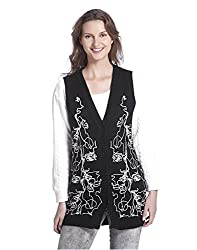 Vero Moda Women's Casual Waist Coat (_5712830492263_Black_Large_)