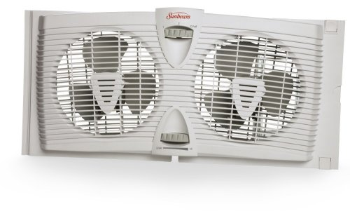 Sunbeam Swf3000 Twin Window Fan With Thermostat Timothy