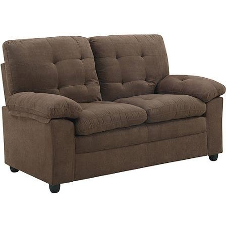 Buchannan Microfiber Loveseat in Multiple Colors, Model SU-BUC2-KC-15 (Dark Chocolate)