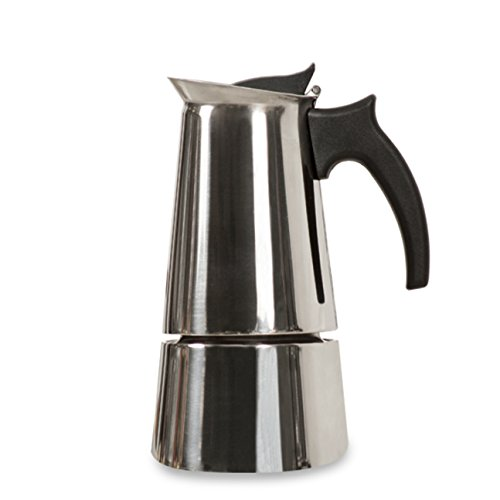 Holstein Housewares H-08004 4-Cup Stainless Steel Espresso Maker - Satin Finish